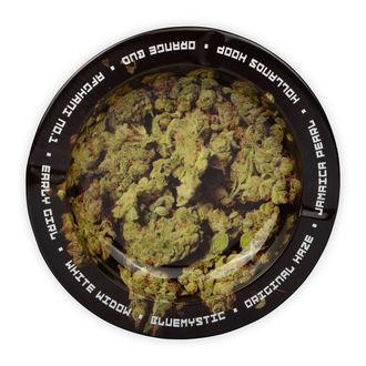 Cendrier Métal Avec Têtes De Cannabis