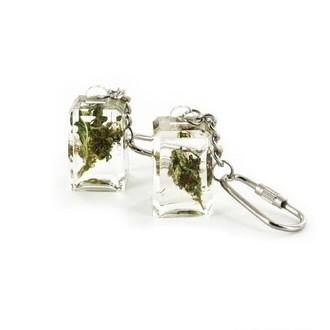 Porte-clé acrylique avec Herbe