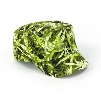 Casquette militaire imprimé cannabis