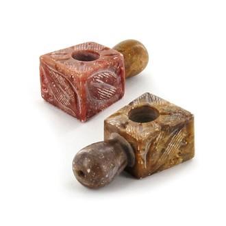 Mini pipe en stéatite sculptée