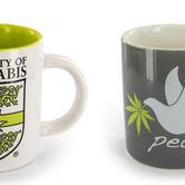 Tasse à café décoration cannabis