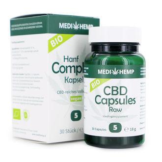 Capsules Huile De Graine De Chanvre Medihemp (5% CBD/CBDA)