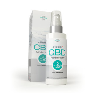 Crème pour les mains au CBD (Cibdol)