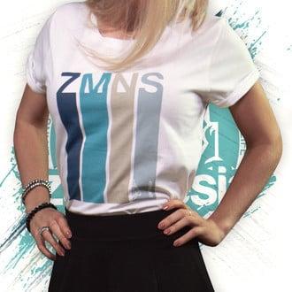 T-Shirt Manches Retroussées Retro | Femme