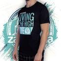T-Shirt Zamnesia High-Life   Homme
