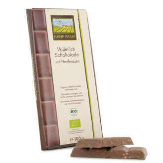 Chocolat Au Lait Organique Aux Graines De Chanvre
