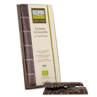 Chocolat Noir Organique Avec Graines De Chanvre