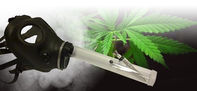 Fumer Du Cannabis Masque Á Gaz