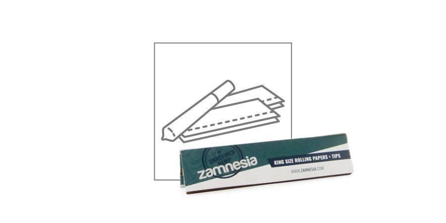 Feuilles À Rouler Zamnesia Chanvre King Size + Cartons