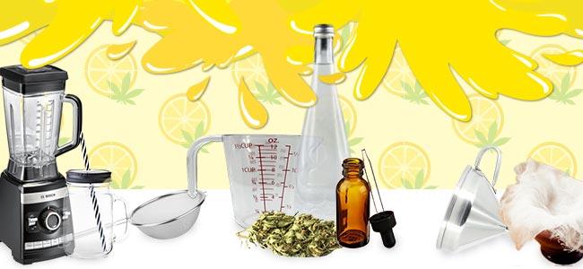 La Limonade Au Cannabis - CE QU'IL VOUS FAUDRA