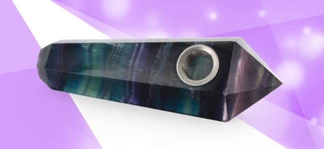Pipe En Cristal Mystique - Fluorite