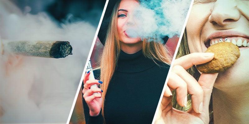 Y A-T-Il Une Différence Entre Fumer, Vaporiser Ou Manger Trop De Cannabis ?