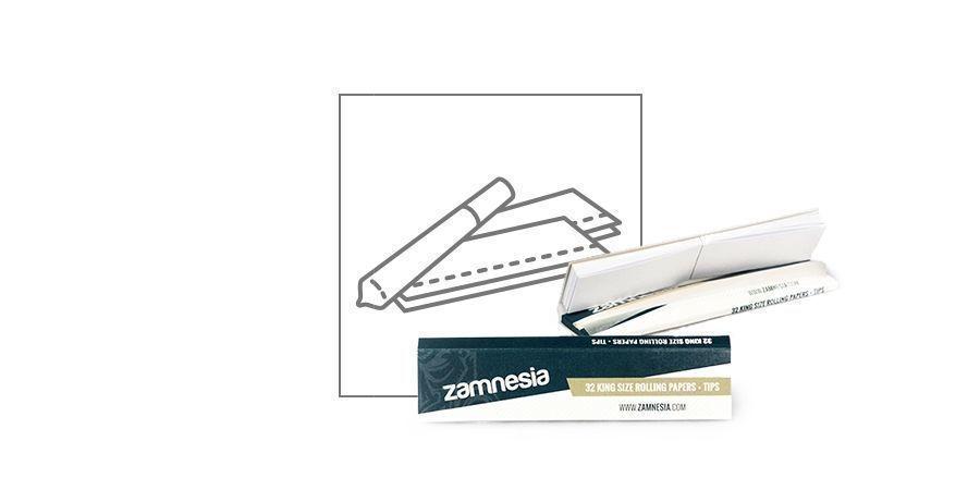 Feuilles à rouler King Size + cartons Zamnesia