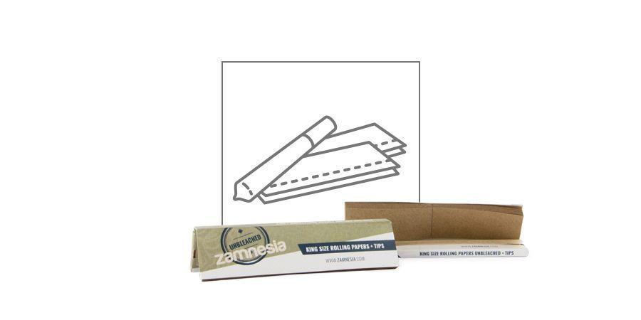 Feuilles À Rouler Zamnesia Non-Blanchies King Size + Cartons