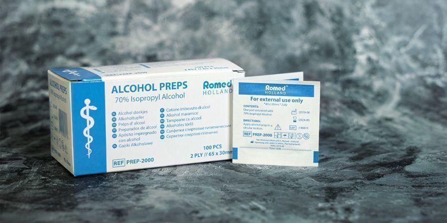 LINGETTES À L'ALCOOL 70 %