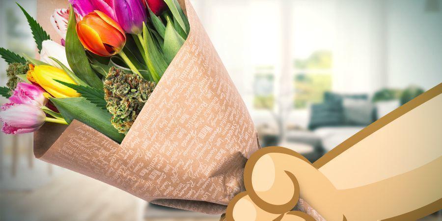 Saint Valentin Bouquet De Têtes D'Herbes
