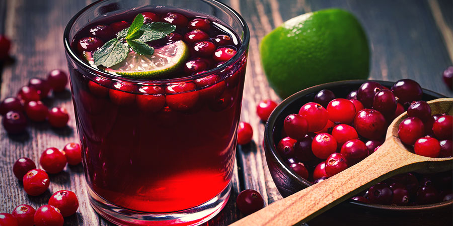 Alternatives À L'Eau Des Bongs: Jus de Cranberry