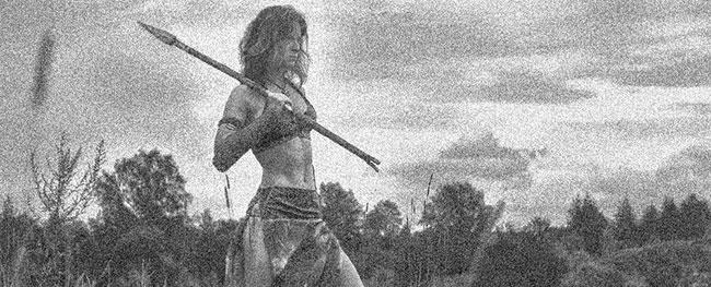 Une femme Scythie combattante