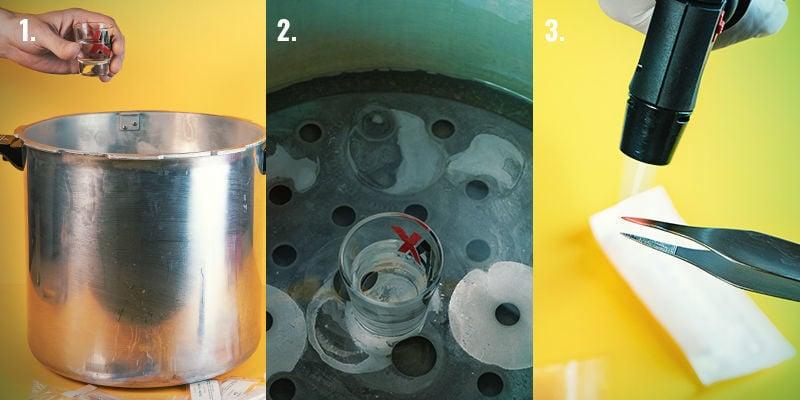 Instructions Pour Préparer Une Seringue De Spores : Étapes 1-3