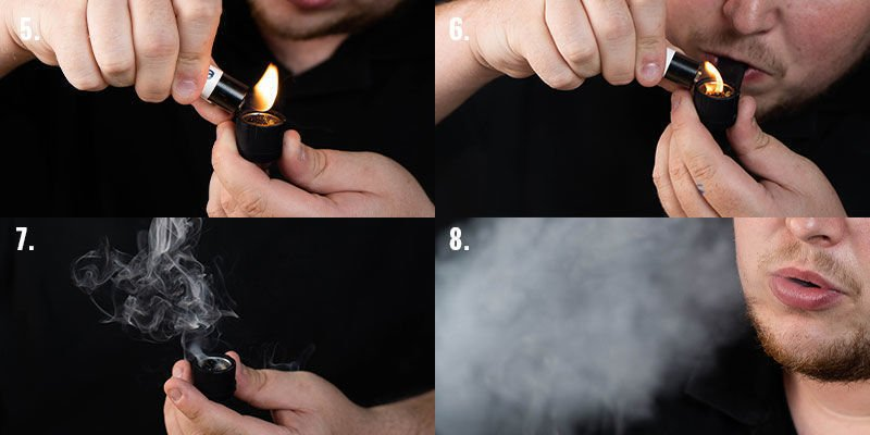 Smoking Cannabis From a Pipe, Step 5-8