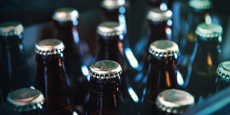 Embouteillée de bière