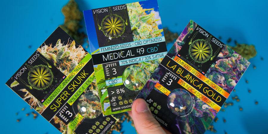 Comment Sont Emballés Les Graines De Cannabis De Vision Seeds ?