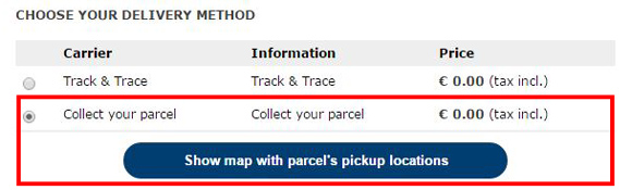 Select Collect Your Parcel