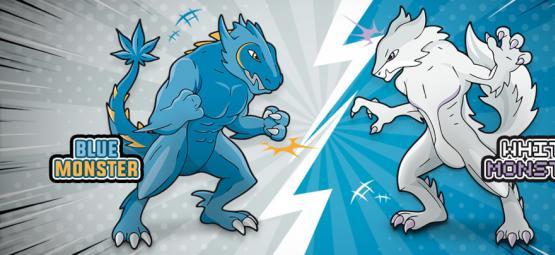 Blue Monster vs White Monster : Le Combat Du Siècle