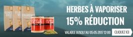 15% Réduction Herbes à Vaporiser