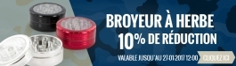 10% Réduction Grinder