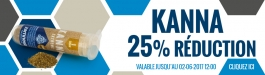25% Réduction Kanna