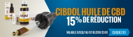 15% Réduction Cibdol