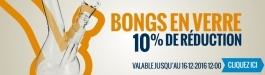 10% Réduction Bongs en Verre